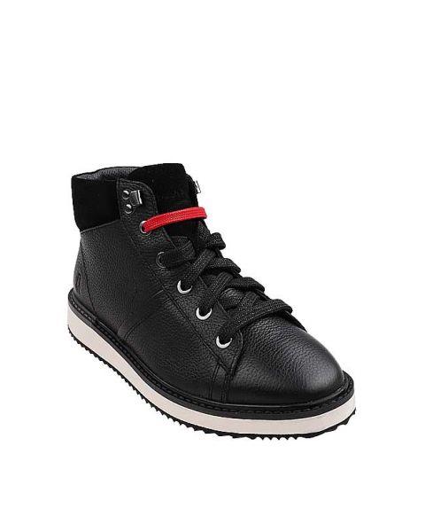 Sabine Hi Top In Black Leather