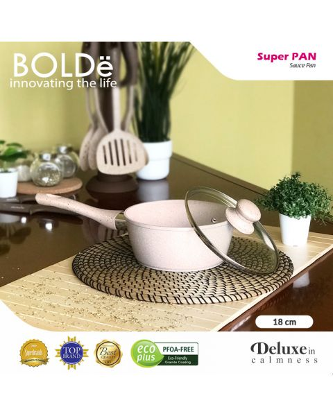 BOLDe Super PAN - Sauce PAN 18 cm + glass lid