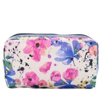 Rectangular Cosmetic In Paintdrop Floral