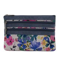 3-Zip Cosmetic In Paintdrop Floral