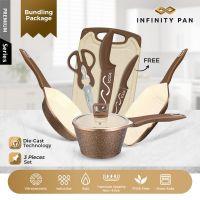 INFINITY PAN 3+1 SETS GOLD