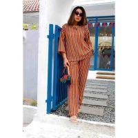 Lolana Blouse Set - Orange