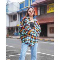 Flanel Oversize Shirts - Candy