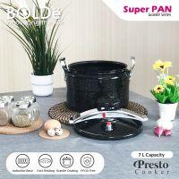Super Pan Presto 7L Granite Coating Black