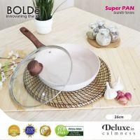 BOLDe Super Pan Wok 26 cm granite series + Lid glass Beige