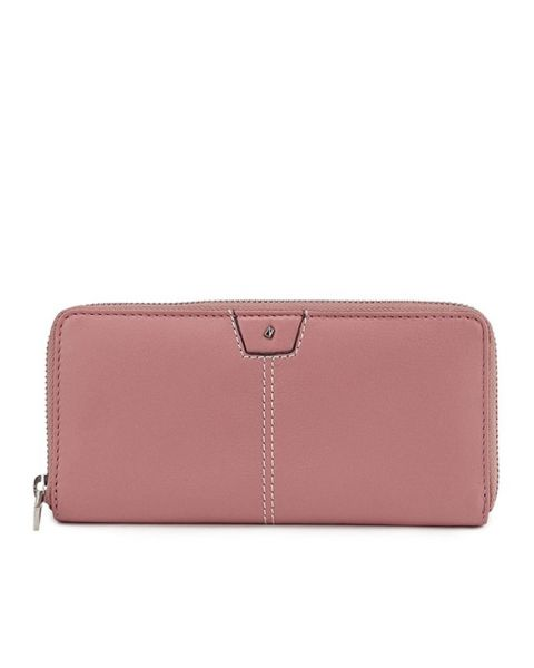 Bradnie Long Zip Purse In Pink